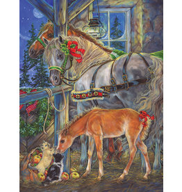 Cobble Hill Puzzles OM88035 Cobblehill Puzzle 275pc Holiday Horses