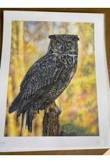 """Stevie Devine SDOWL 10"""" X 13"""" Owl Print by Stevie Devine"""