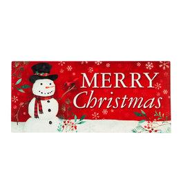 Sassafras EE1725 Sassafras Switch Mat Christmas Heritage Snowman (no tray)