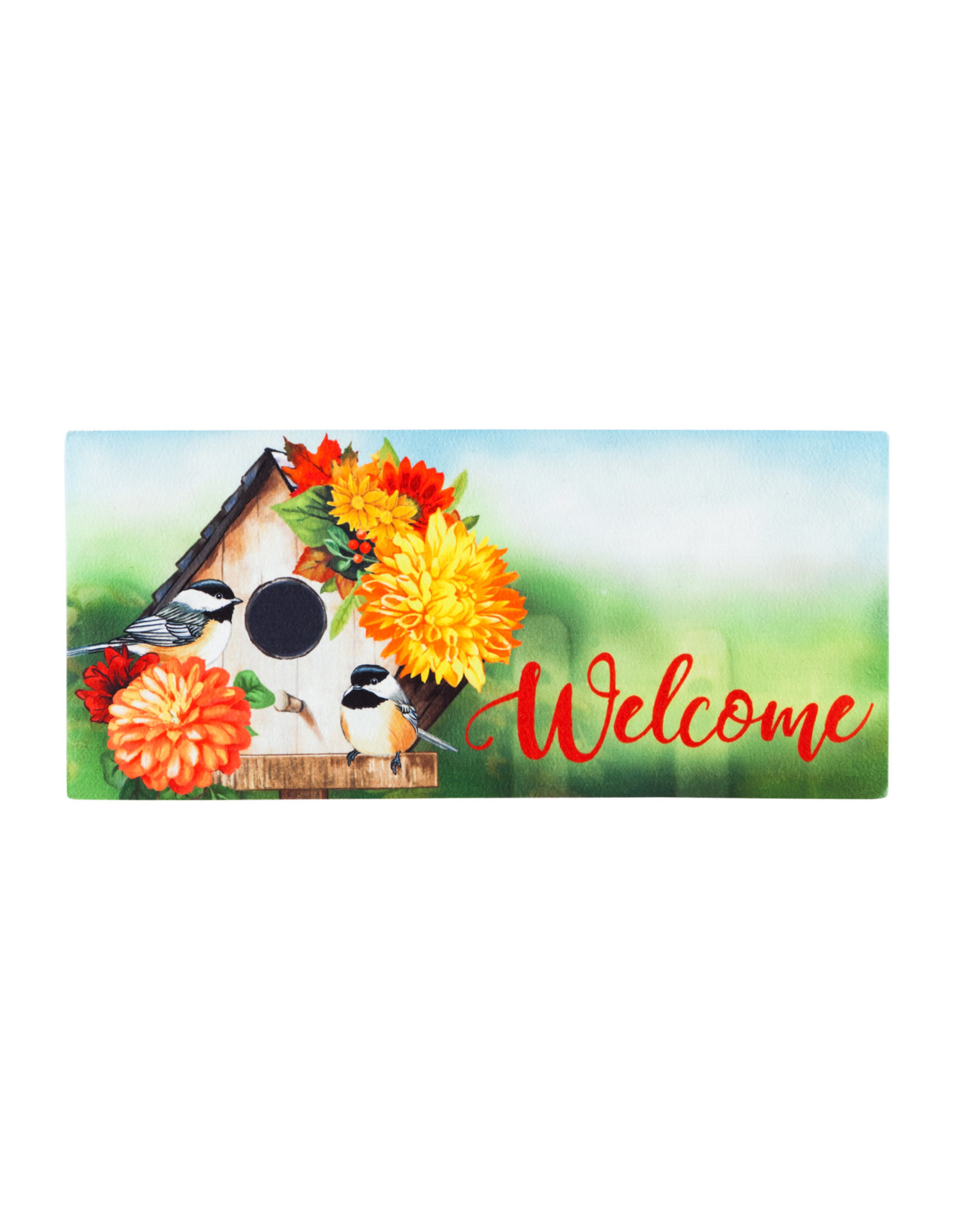 Sassafras EE1731 Sassafras Switch Mat Chickadee Floral Birdhouse (no tray)