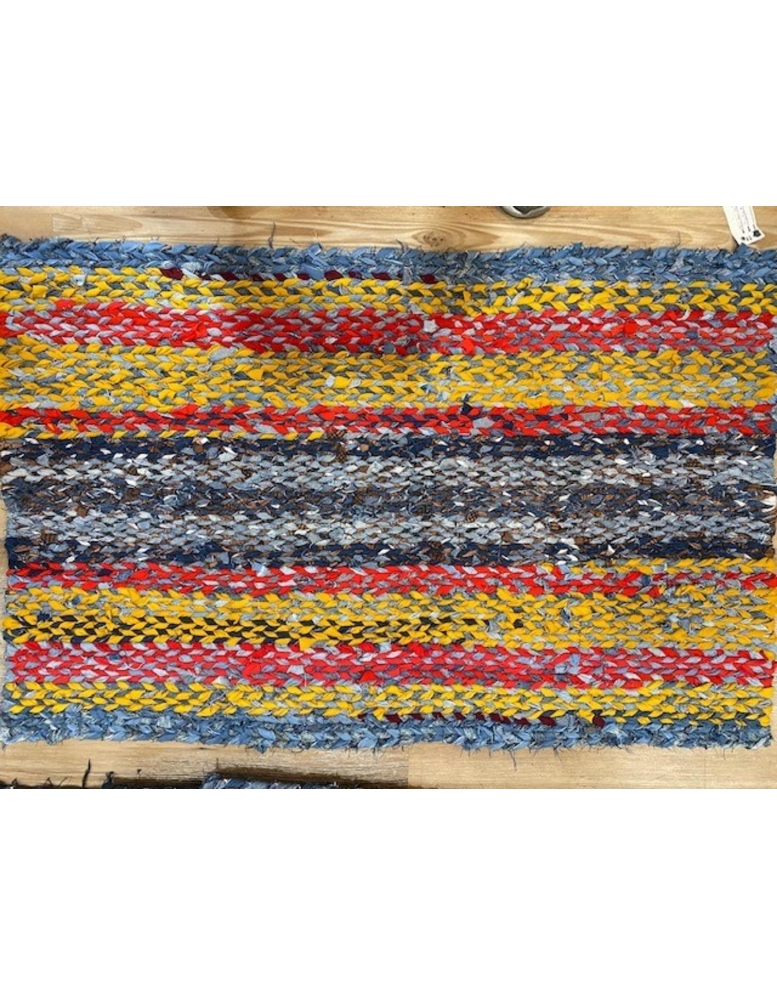 "Artist Jean Long JLRUG65 Jean Long One of Kind Woven Rug 27.5""x42"""