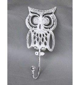 CJ MARKETING CJM9642 White Owl Wall Hook