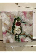 Artist - Alicia Galambos AGESTHER Esther The Hummingbird 4x4 on canvas-