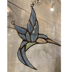 "Artist- Andrew Reid ARHUM Bevelled Stain glass Hummingbird 6.25"" x 4"""