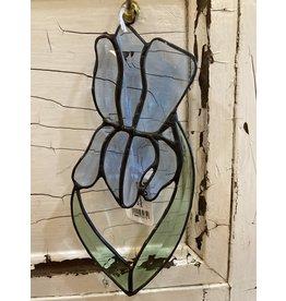 "Artist- Andrew Reid ARIRIS Bevelled Stain Glass  Iris, 7.75"" x 3.25"""