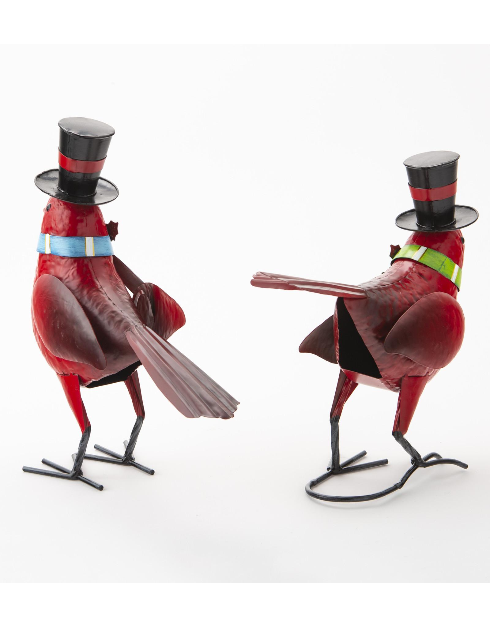 EE55319 Metal Holiday Cardinal Statues Set of 2