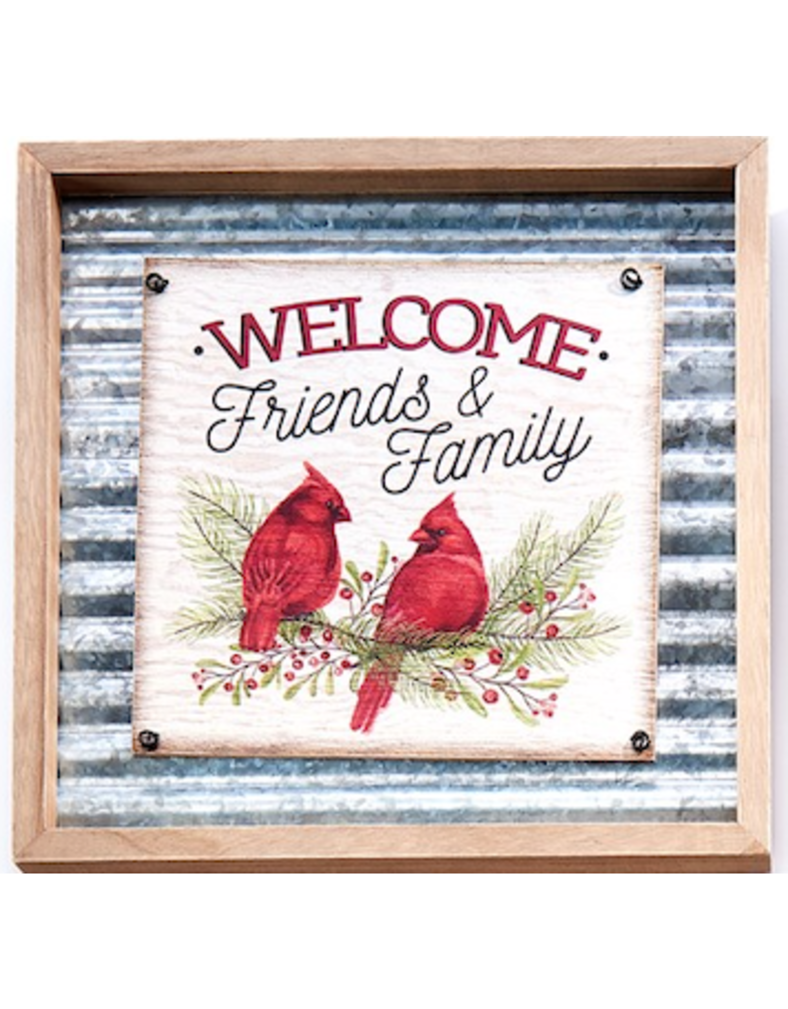 GiftCraft GC3214a Metal xmas Wall Plaque -Welcome