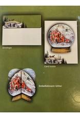 Lang BF6004 Lang Christmas Gathering Ornament Christmas Card box of 8