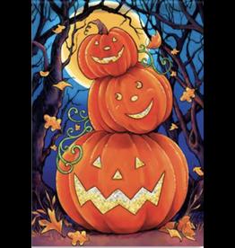 Carson EL49735 - Garden Flag - Happy Pumpkin - Glitter