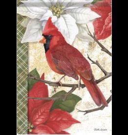 Carson EL49747 - Garden Flag - Christmas Cardinal