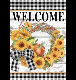Carson EL49824 - Garden Flag - Sunflower Wreath
