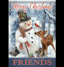 Carson EL50128 - Garden Flag - Merry Christmas Friends