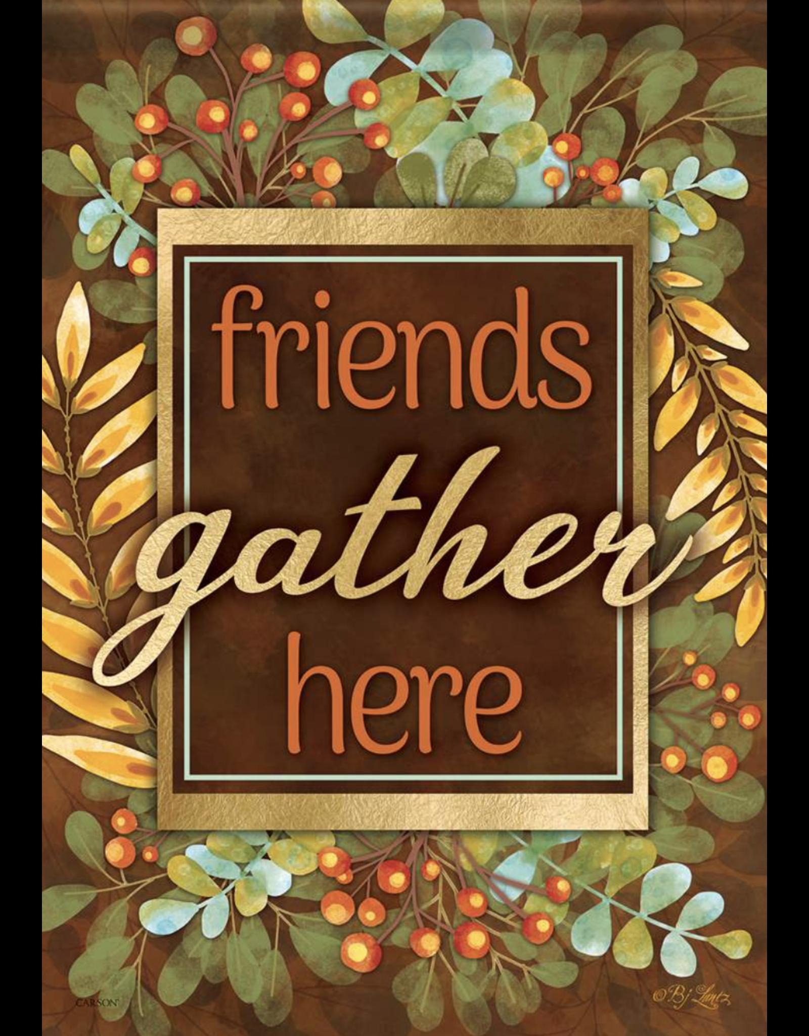 Carson EL50187 - Garden Flag -Leaves and Berries- Glitter