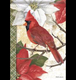 Carson EL51747 Large House Flag Christmas Cardinal