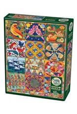 Cobble Hill Puzzles OM80317 Twelve Days Of Christmas Quilt Cobble Hill 1000pc Puzzle
