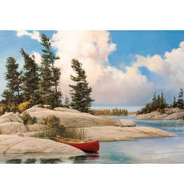Cobble Hill Puzzles OM85074 A Day at the  Lake 500pc Cobble Hill Puzzle
