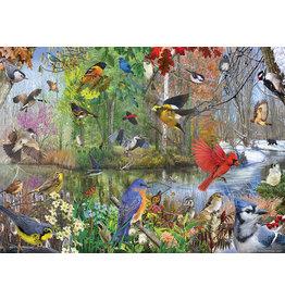 Cobble Hill Puzzles OM80243 Birds of the Season 1000pc Cobble Hill Puzzle