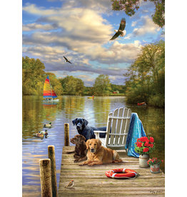 Cobble Hill Puzzles OM80257 A Dog Day Afternoon 1000pc Cobble Hill Puzzle