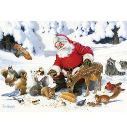 Cobble Hill Puzzles OM54605 Santa Claus and Friends Cobble Hill Puzzle 350pc Family Pieces