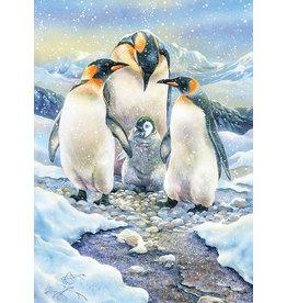 Cobble Hill Puzzles OM54640 Penguin Family Cobble Hill Puzzle 350pc Family Pieces
