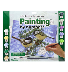 Royal & Langnickel OM06848 Paint by number 13pc Pine Birds