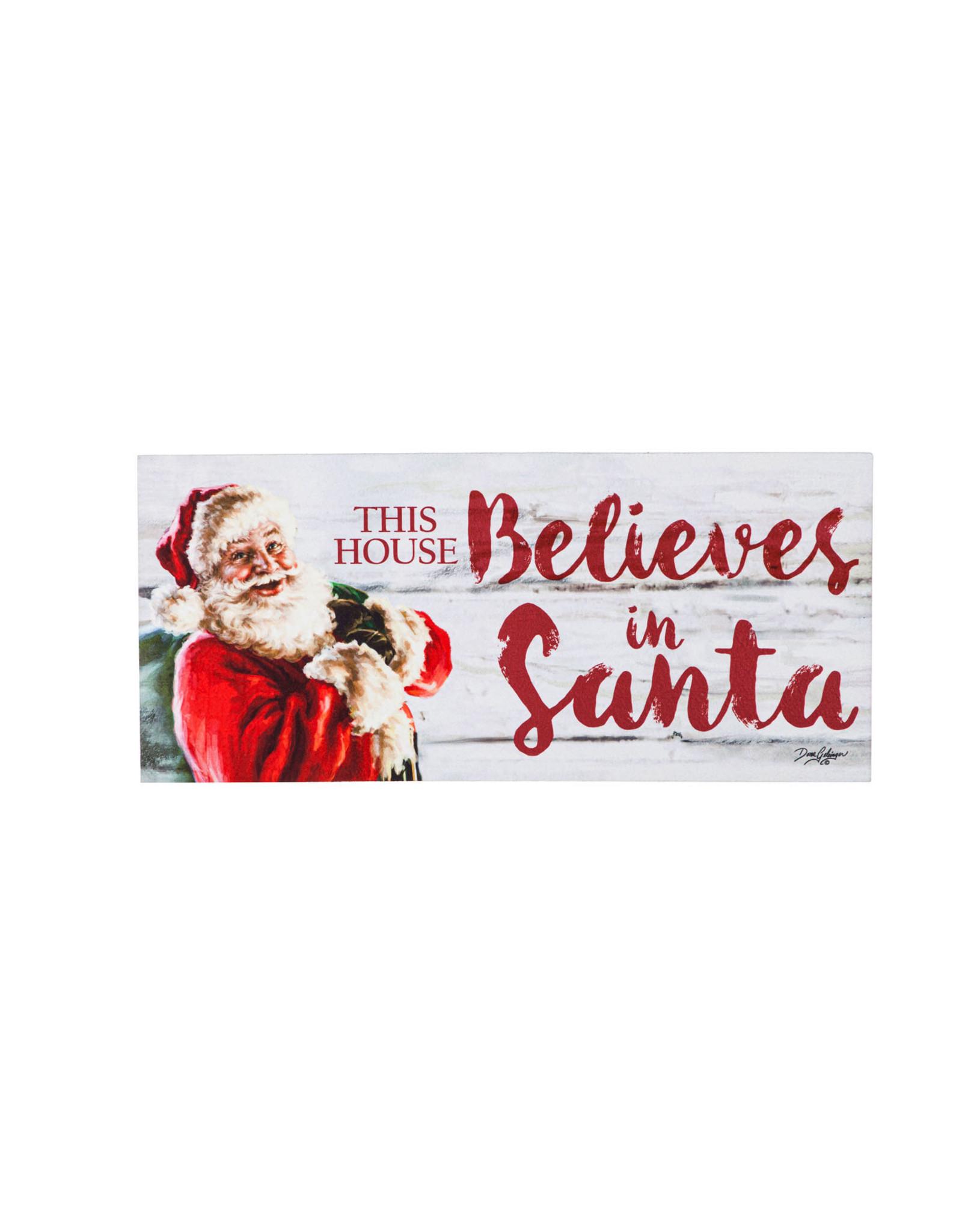 Sassafras EE1876 Sassafras Switch Mat This House Believes in Santa ( No Tray)