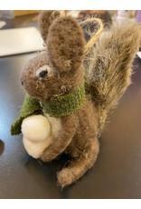 ABMERINOS Squirrel with snowballs tree ornament