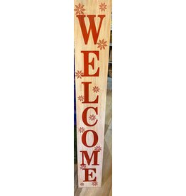 """FRANS KOPPER FK44219 4'5""""x8""""x1""""Red and White Welcome/Merry Christmas Porch Signs"""