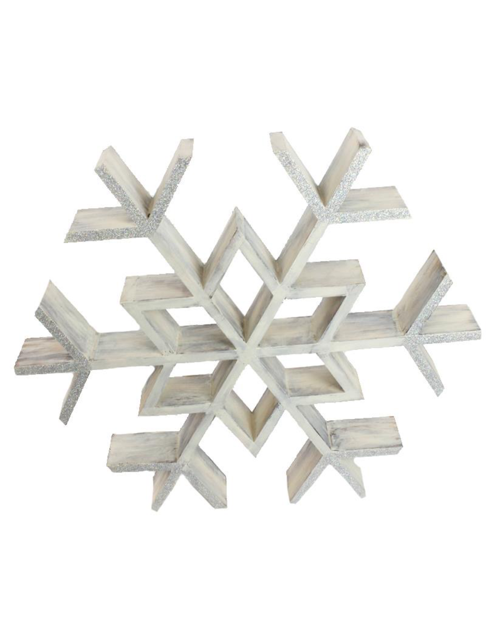 "FRANS KOPPER FK776 Hanging Wood Snowflake 19.75""x 17""x 2.5"""