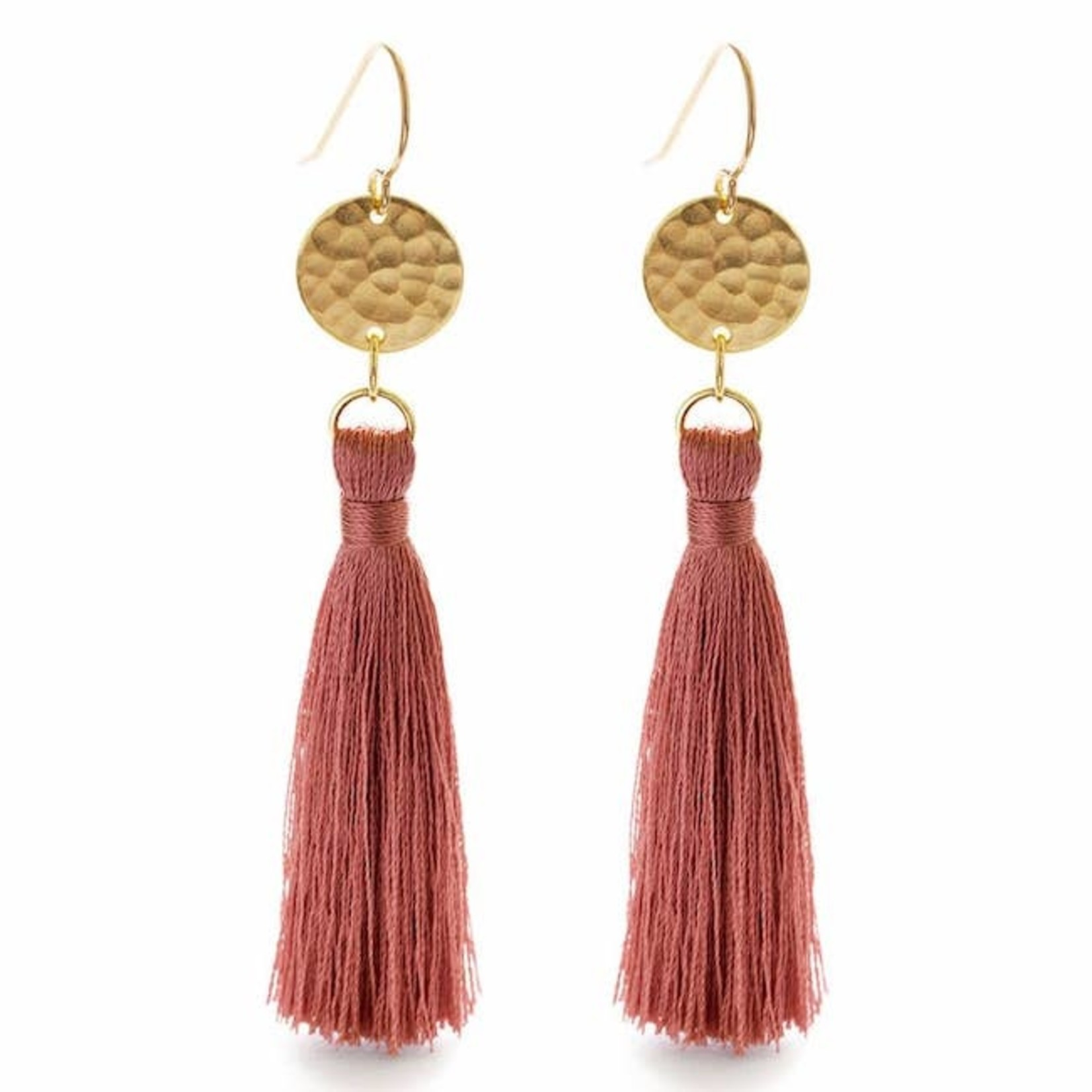 Indigo Faire Tassel Earrings
