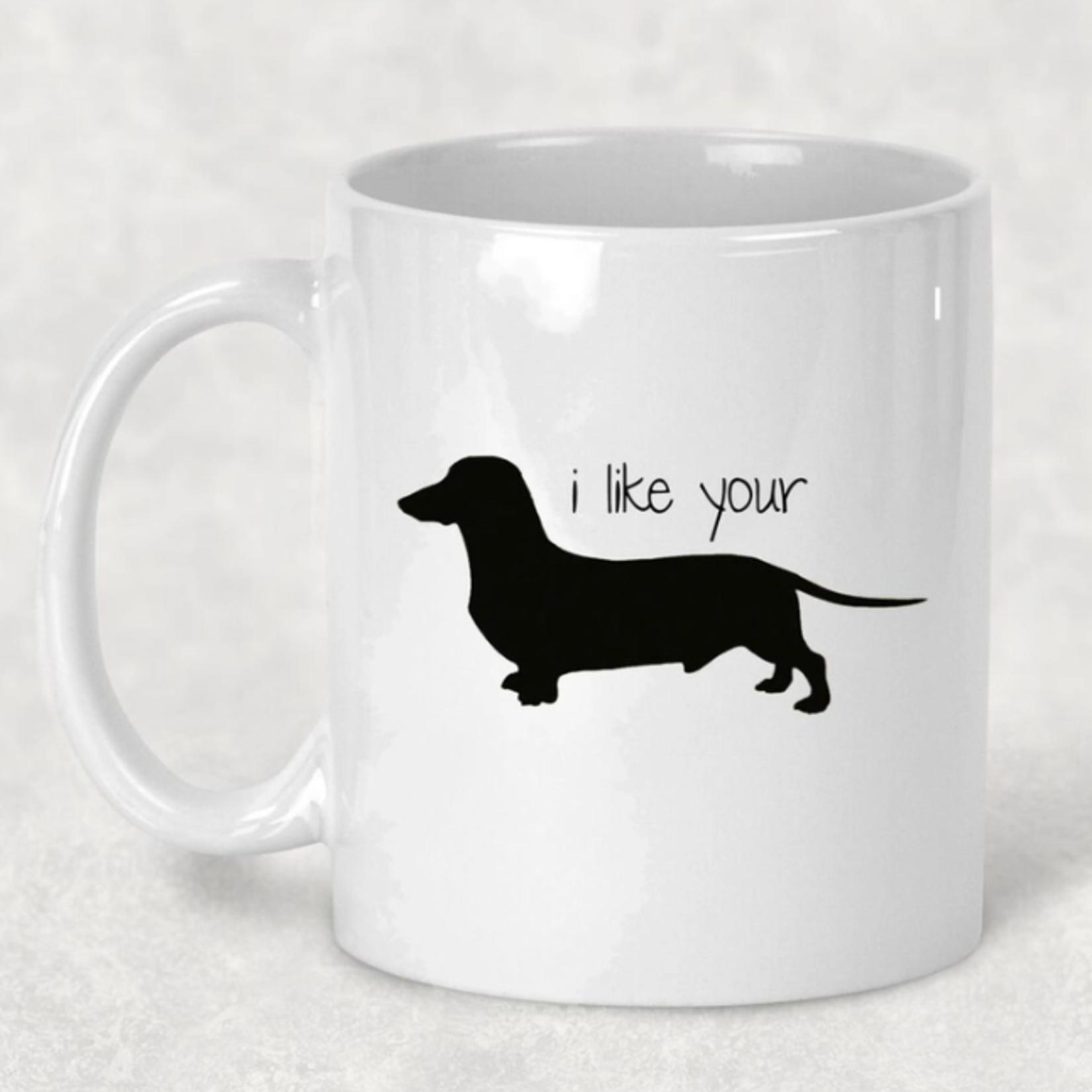 Indigo Faire I like Your Weiner Mug