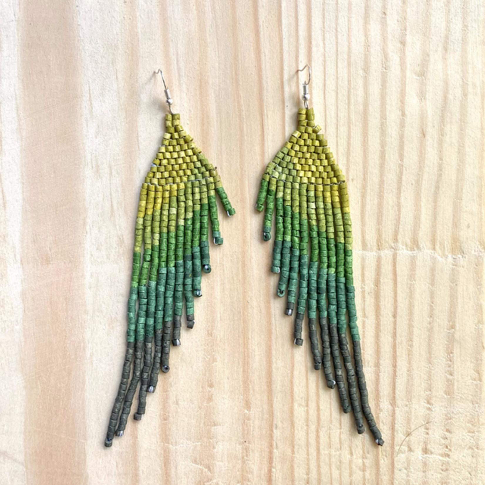 Indigo Faire Quetzal Earrings