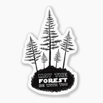 Indigo Faire Forest Be With You Sticker