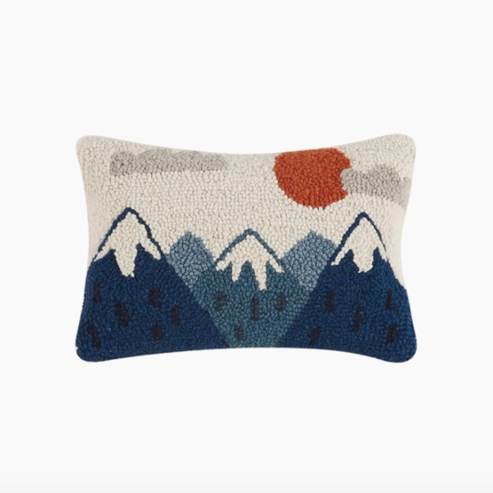 Indigo Faire Mountains Hook Pillow