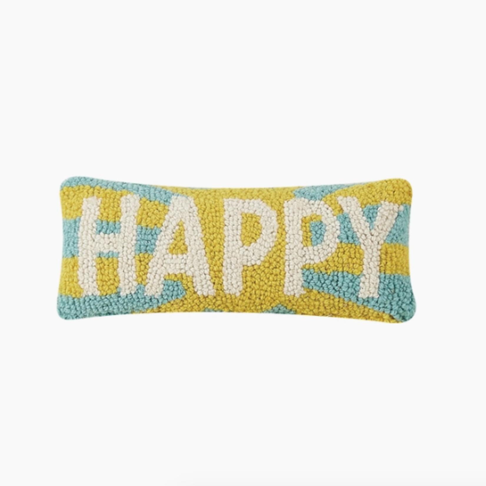 Indigo Faire Happy Mini Pillow