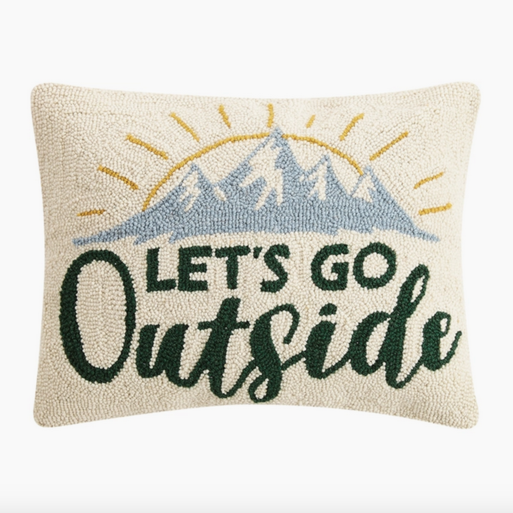Indigo Faire Lets Go Outside Pillow