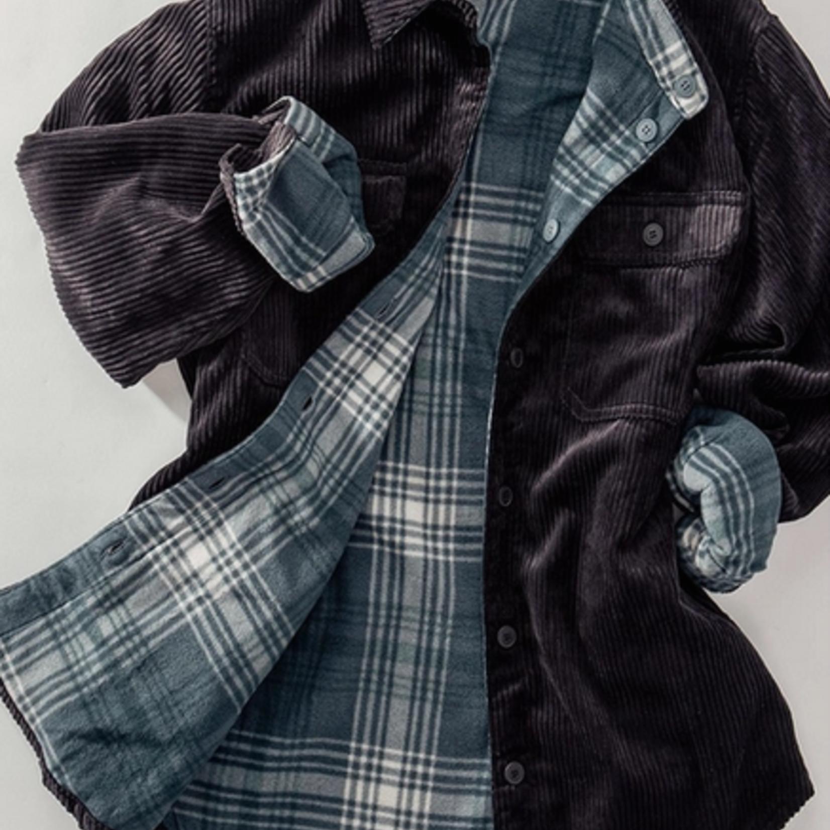 Indigo Faire Corduroy Checkered Reverse Jacket
