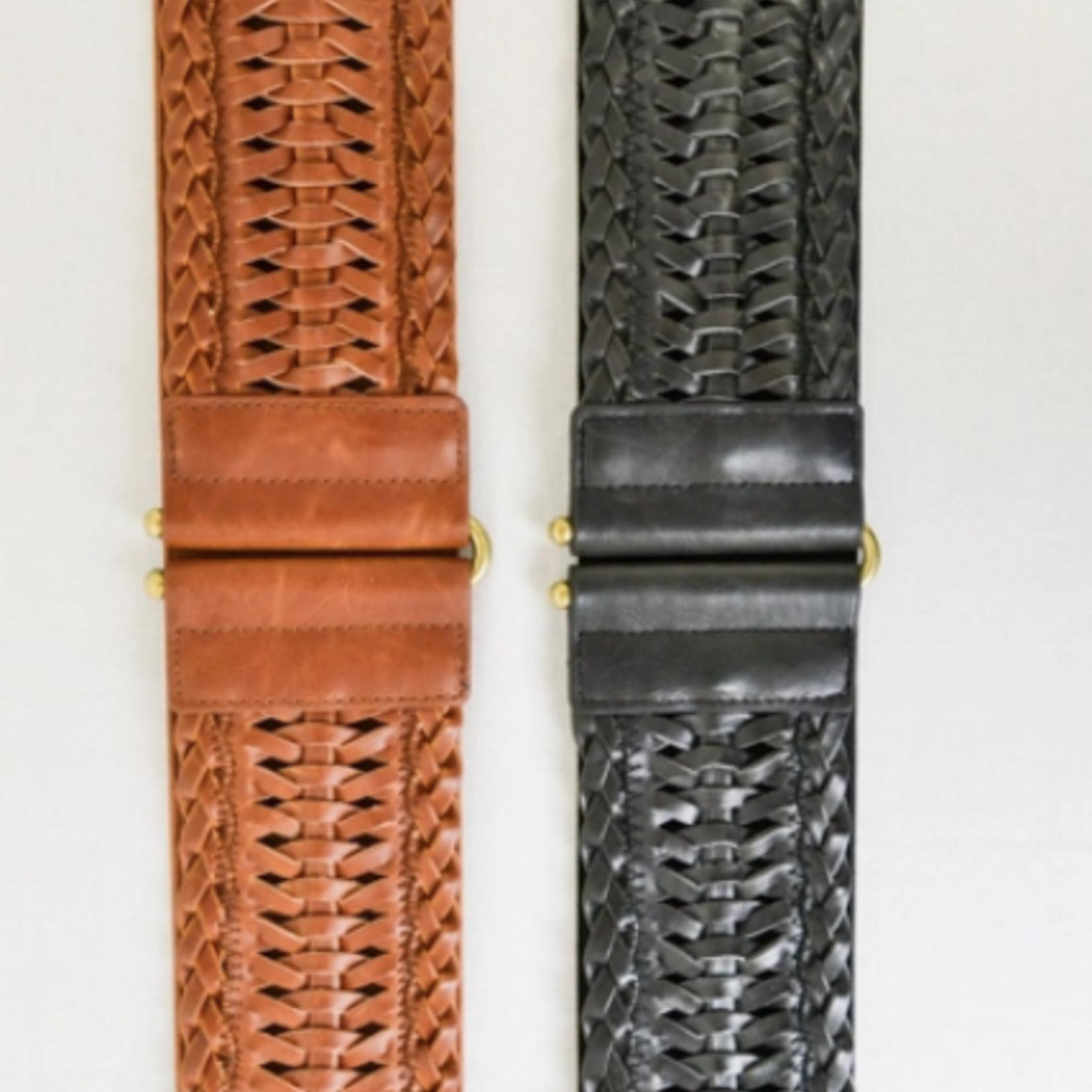 Leto Accessories Faux Leather Elastic Belt