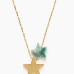 Indigo Faire Star Power Necklace-Plated gold