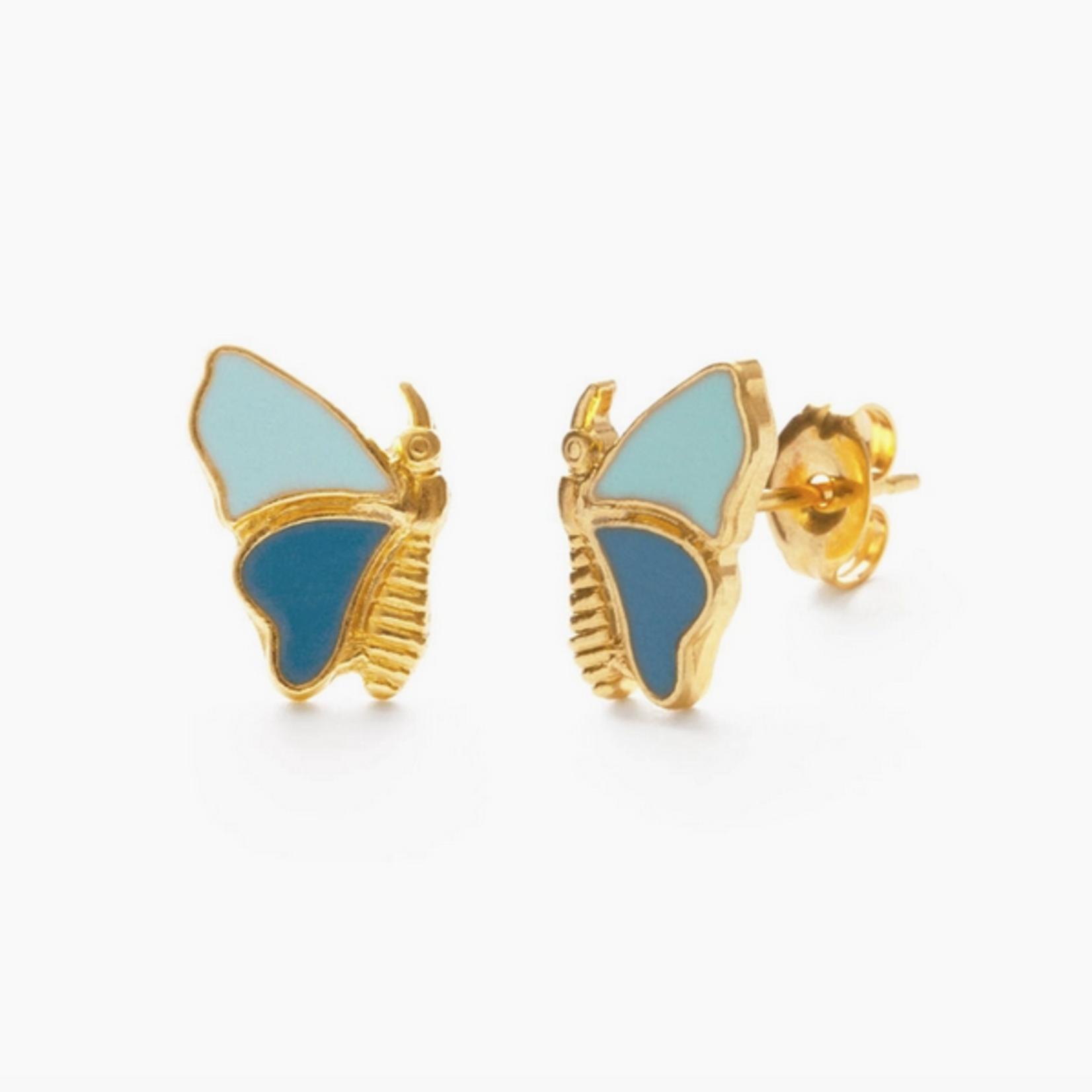 Indigo Faire Mariposa Butterfly Stud
