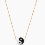 Indigo Faire Ying & Yang Mother of Pearl Necklace