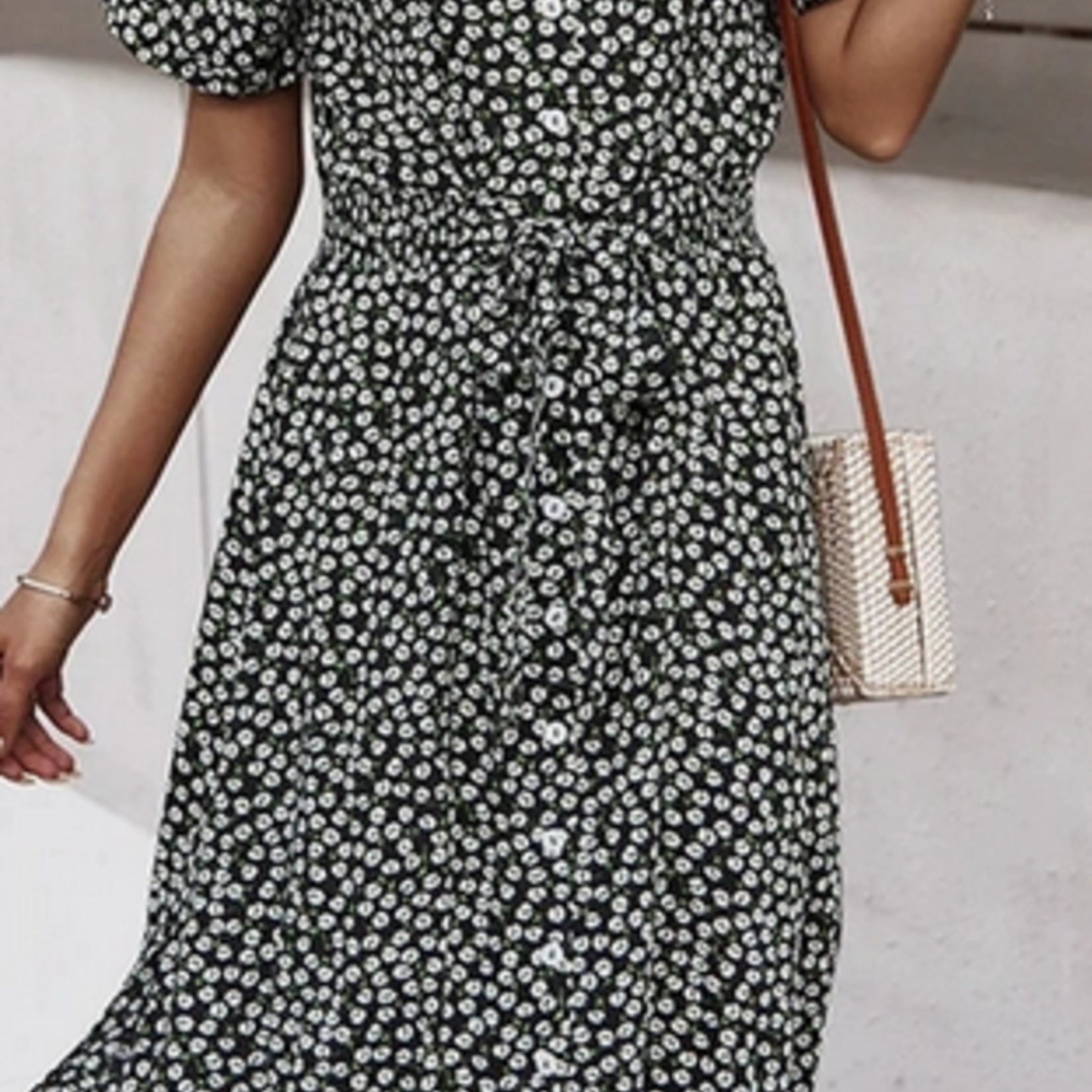 Indigo Faire Daisy Button Down Dress