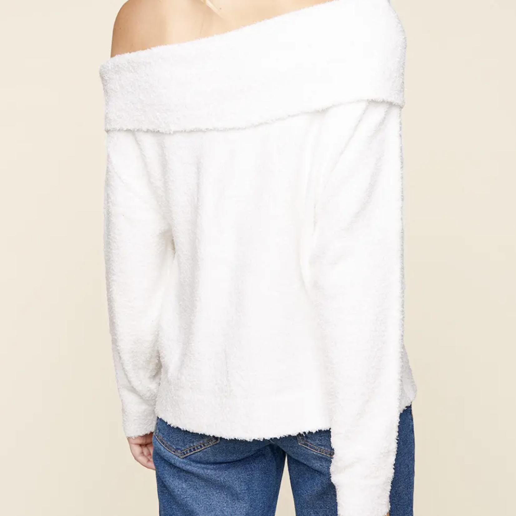 Indigo Faire Ramona One Shoulder Sweater