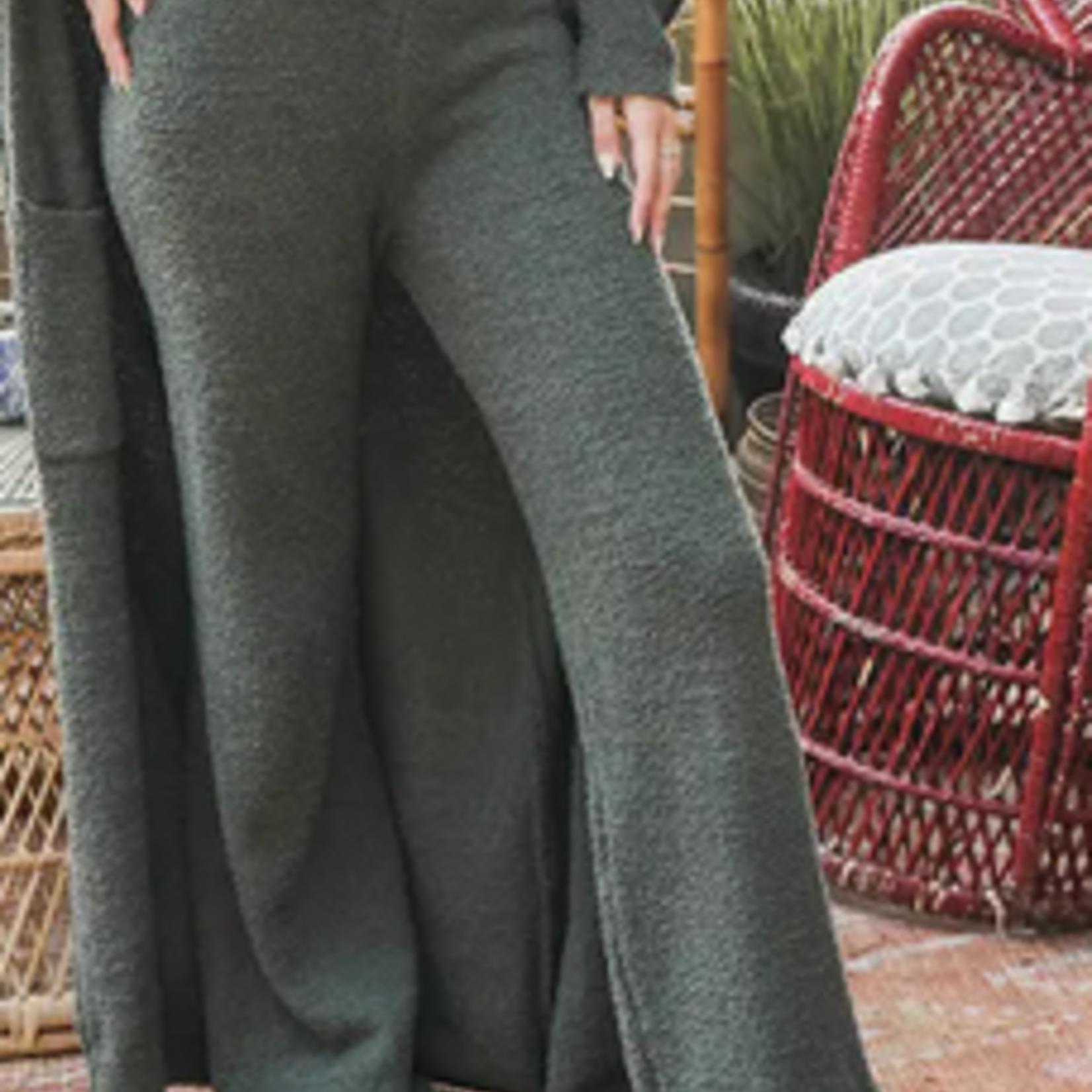 Leto Accessories Boucle Cozy Lounge Pants
