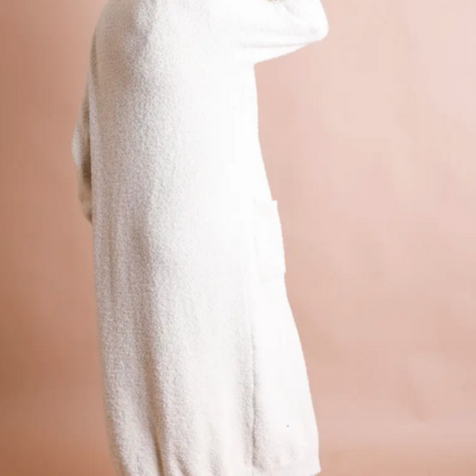 Leto Accessories Boucle Cozy Longline Cardigan