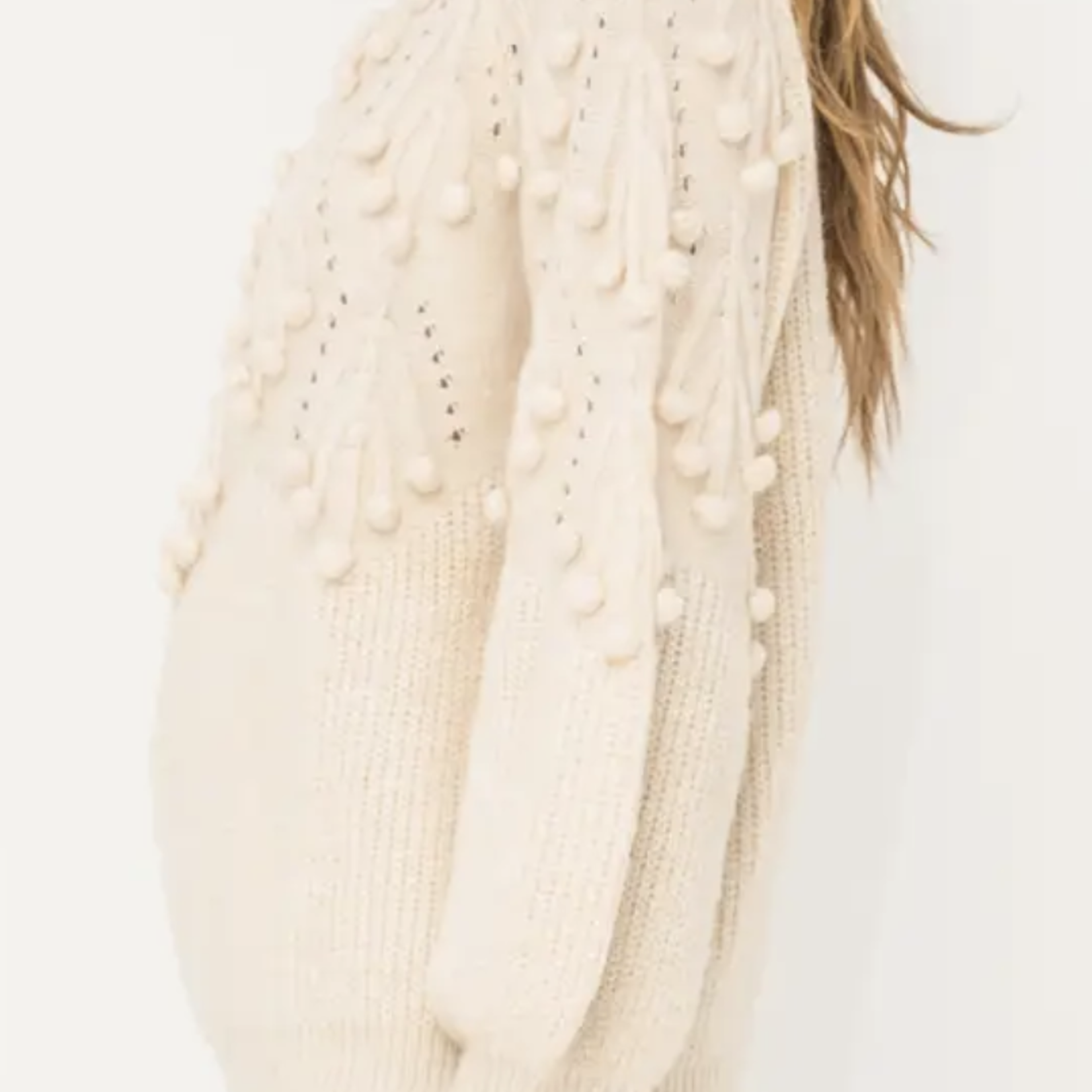 Indigo Faire Pastel Pom Pom Sweater