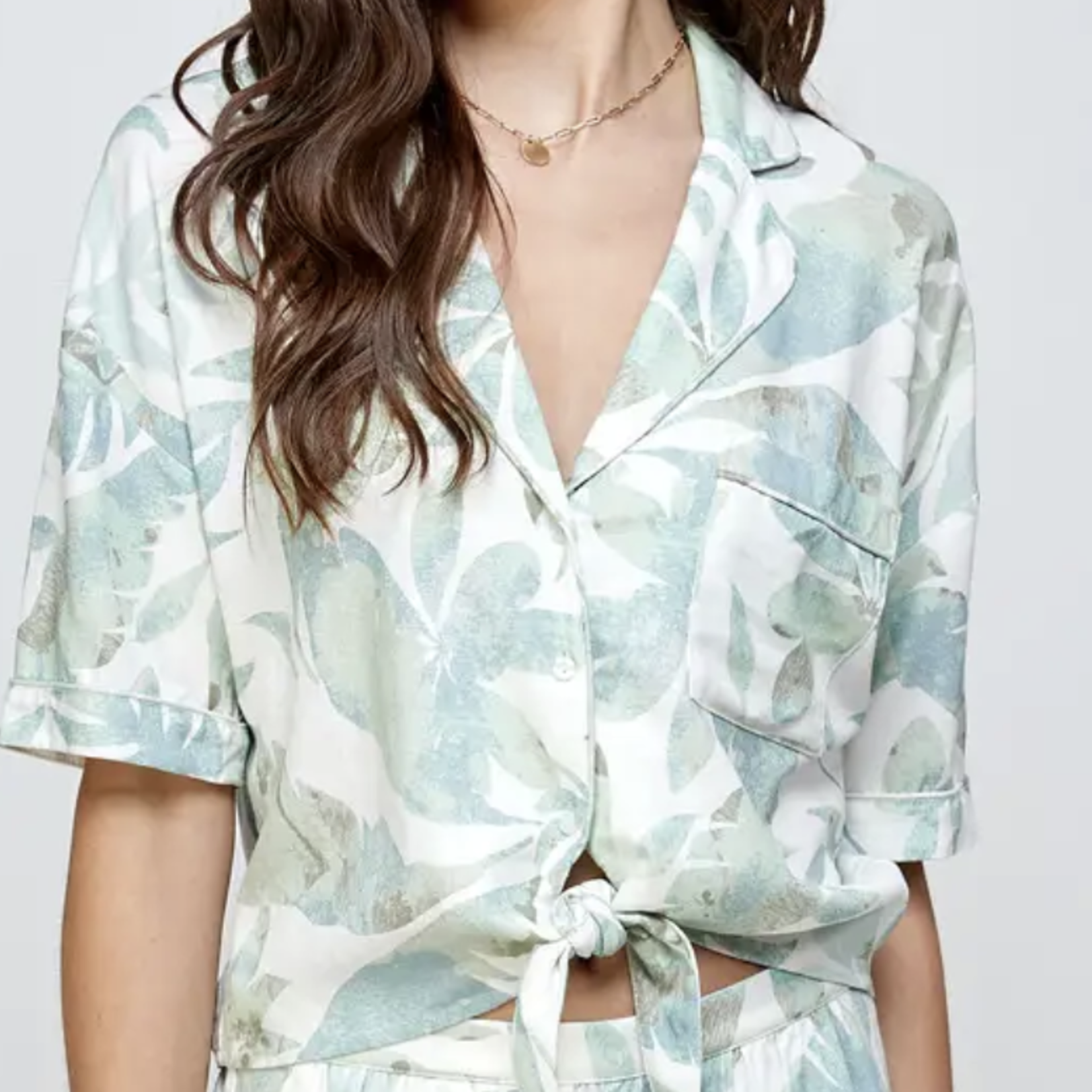 Indigo Faire Linen Palm Sleep Shirt