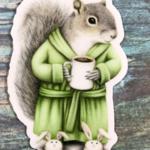 Indigo Faire Morning Coffee Squirrel