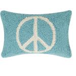 Indigo Faire Peace Sign Pillow