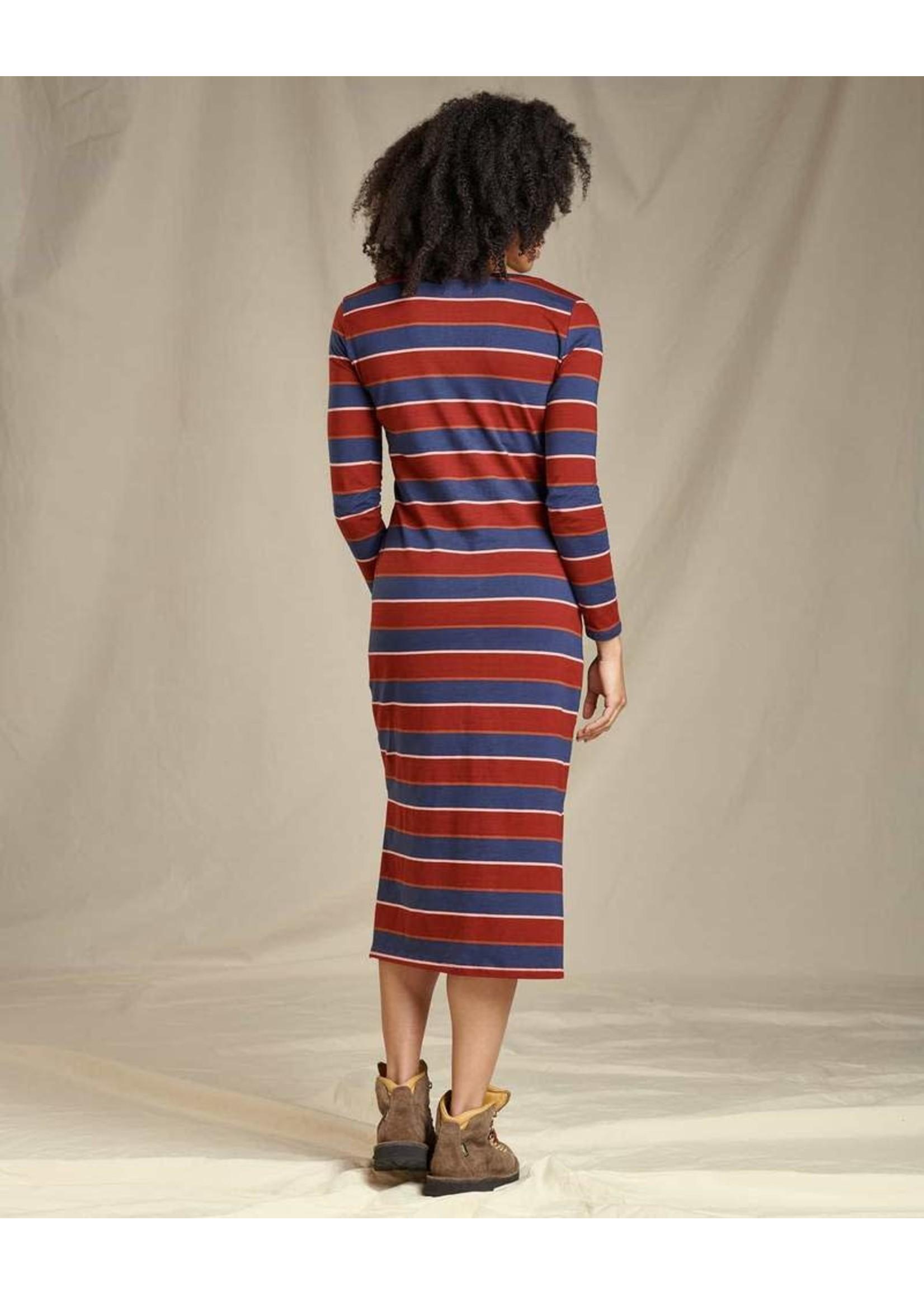 TOAD & CO Robe Montclair Midi / Large / Rouge & bleu